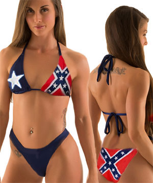 Texas confederate flag bikini